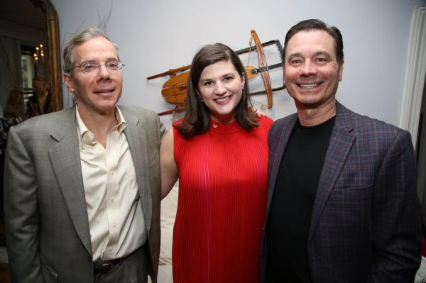 Ira Gilbert, Rachel Routh at Dramatists Guild Fund Dinner, New York