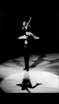 Tai and Randy on tour 1997. Photo: Michon Halio