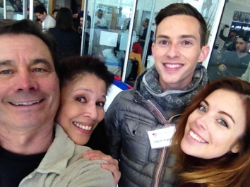 With Tai Babilonia, Adam Rippon, Ashley Wagner. Olympic Day 2016, Palos Verdes.
